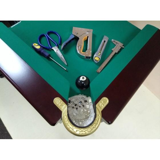 Перетяжка бильярдного стола 7-8 футов Стоимость услуги 1400 грн
